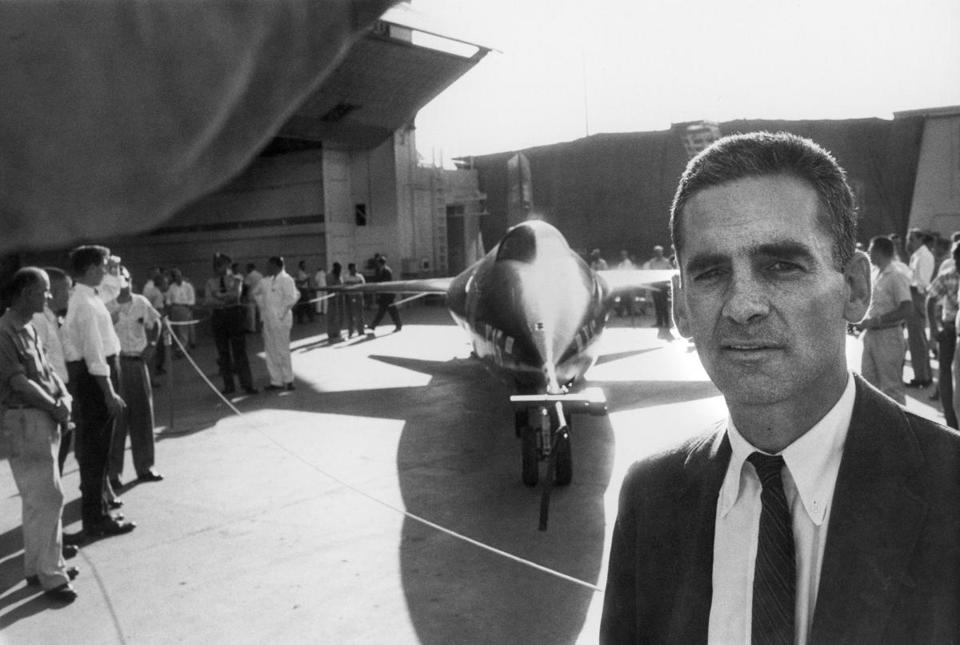 Mr. Witkin, shown next to an X-15, was a member of a team that was honored for coverage of a space shuttle disaster.