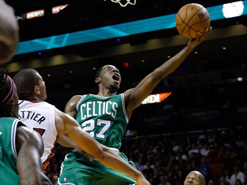 Jordan Crawford has thrived at the point while bring a calming influence over the Celtics, who upset the Heat in Miami Saturday.
