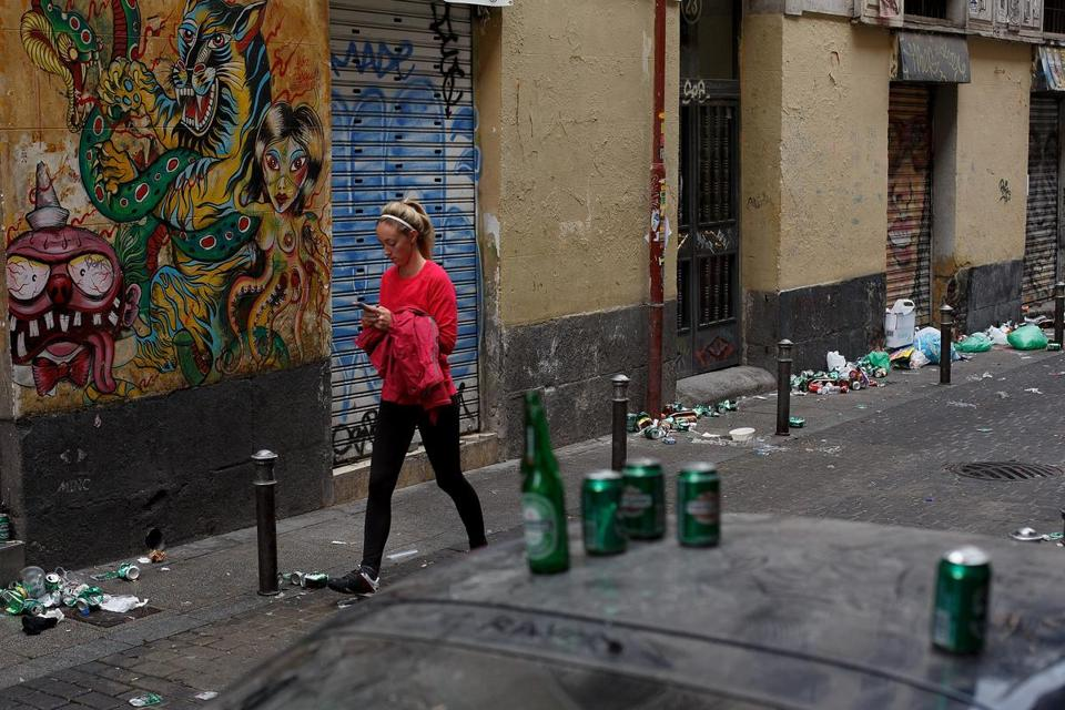A woman in Madrid. Europe's youth unemployment rate stands at 23.5 percent. The US rate is about 16 percent.