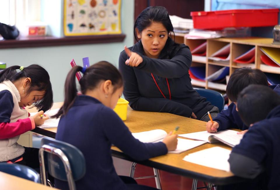 Mather School's Songkhla Nguyen is a teacher and mentor to some of the young Vietnamese immigrants who call Dorchester home.