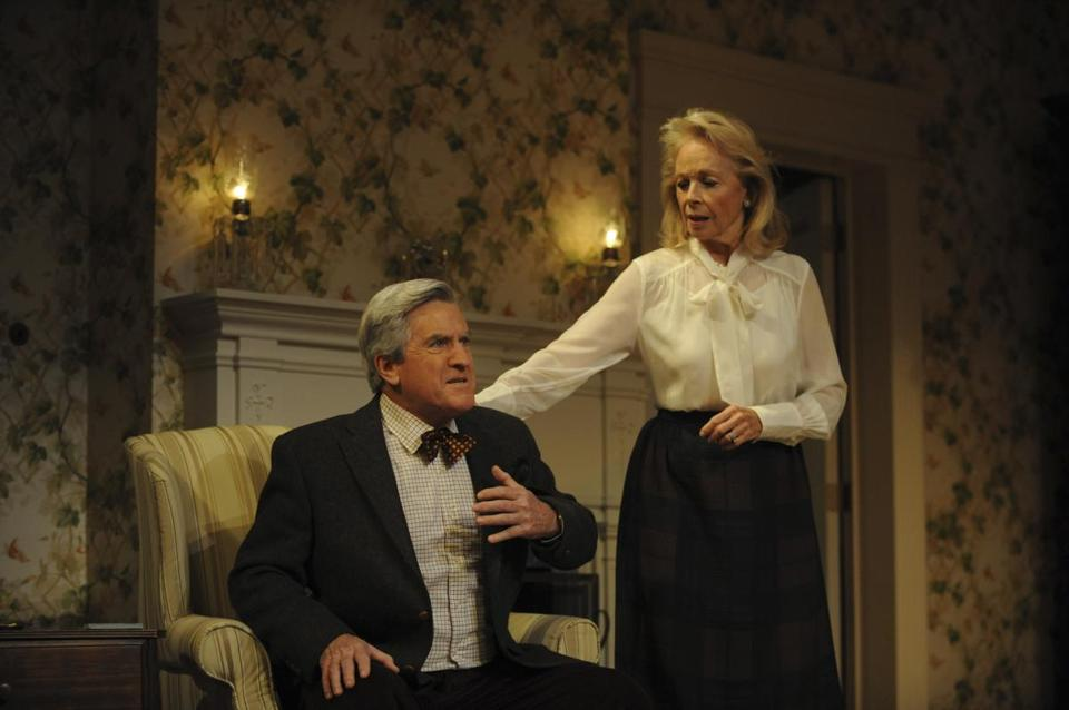 "Richard Poe and Maureen Anderman are father and mother in A. R. Gurney's play about his parents, ""The Cocktail Hour,"" at the BU Theatre."