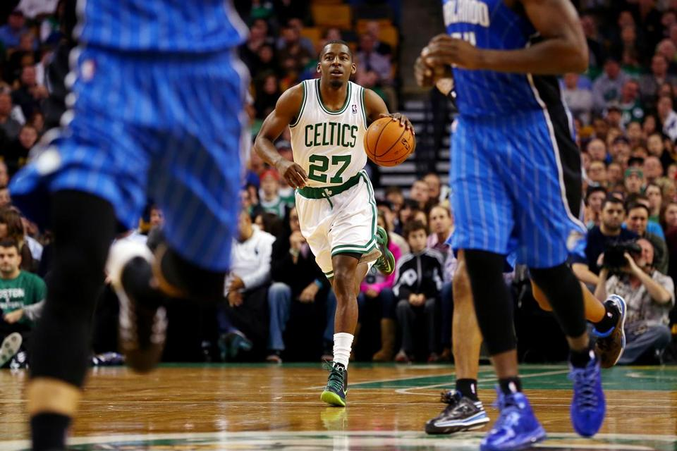 Jordan Crawford was masterful in Monday night's 120-105 win over the Magic at TD Garden, running the Celtics offense.