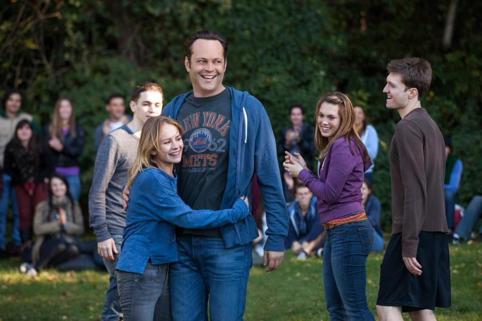 Vince Vaughn (with Britt Robertson) plays a nice guy who finds out his donated sperm has produced 533 children.
