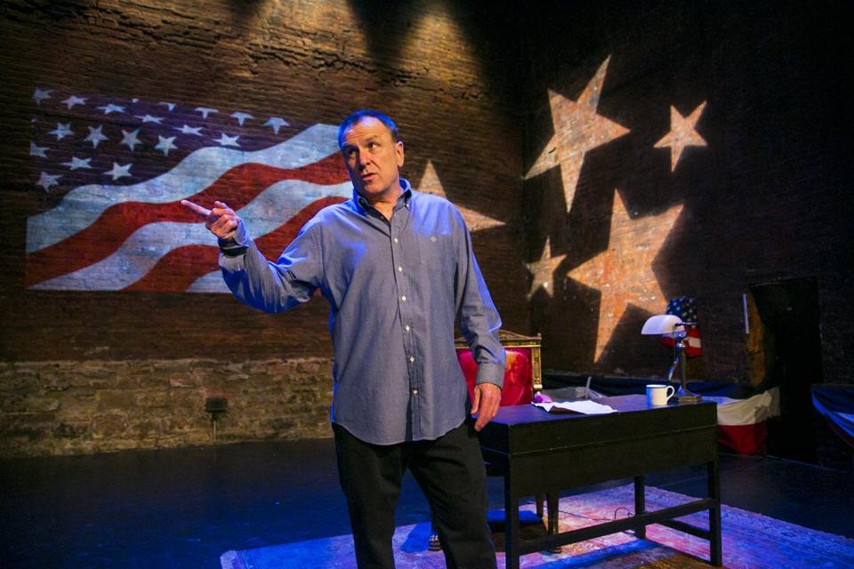"""I think what we have to realize is the Founding Fathers were brilliant and we're not,"" Colin Quinn says of his approach to ""Colin Quinn: Unconstitutional."""
