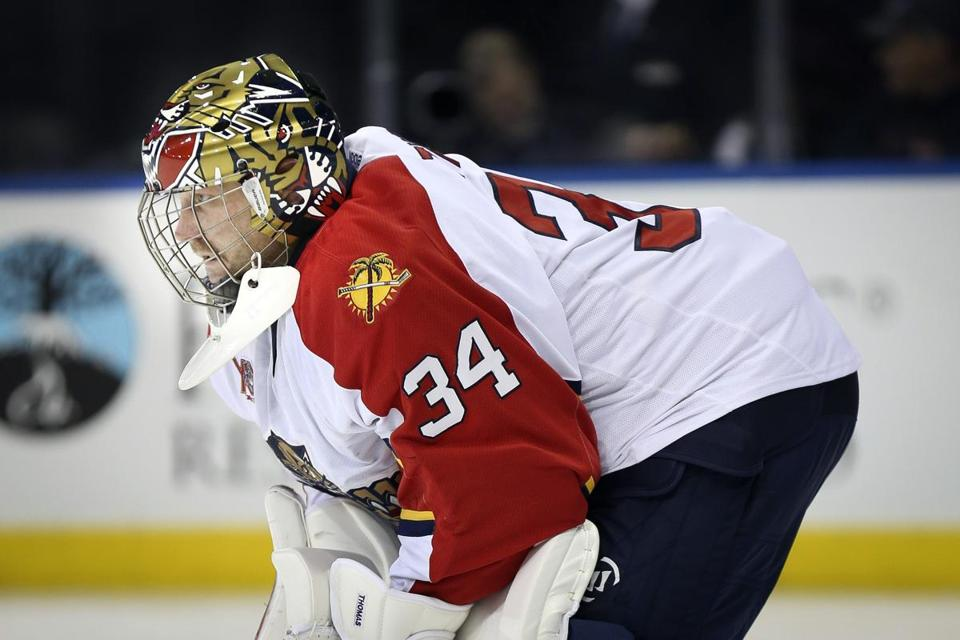 Panthers goalie Tim Thomas stopped 32 shots in a win over the Ducks.