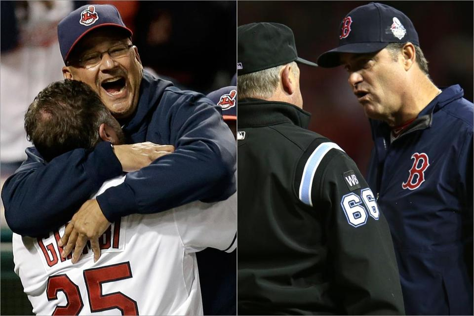 Terry Francona made Cleveland happy by reaching the playoffs, but you could argue for John Farrell, whose Red Sox tied for the best record in baseball.