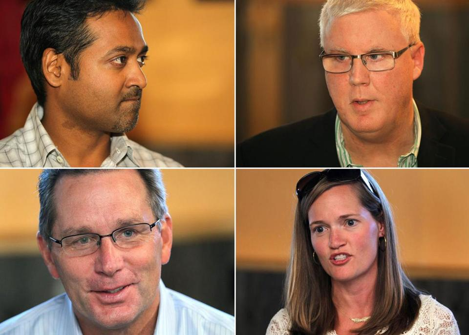 Clockwise from top left: Raj Aggarwal of Localytics, Jim Gemmell of Akamai, Leslie Brunner of athenahealth, and James Kizielewicz of Kronos.