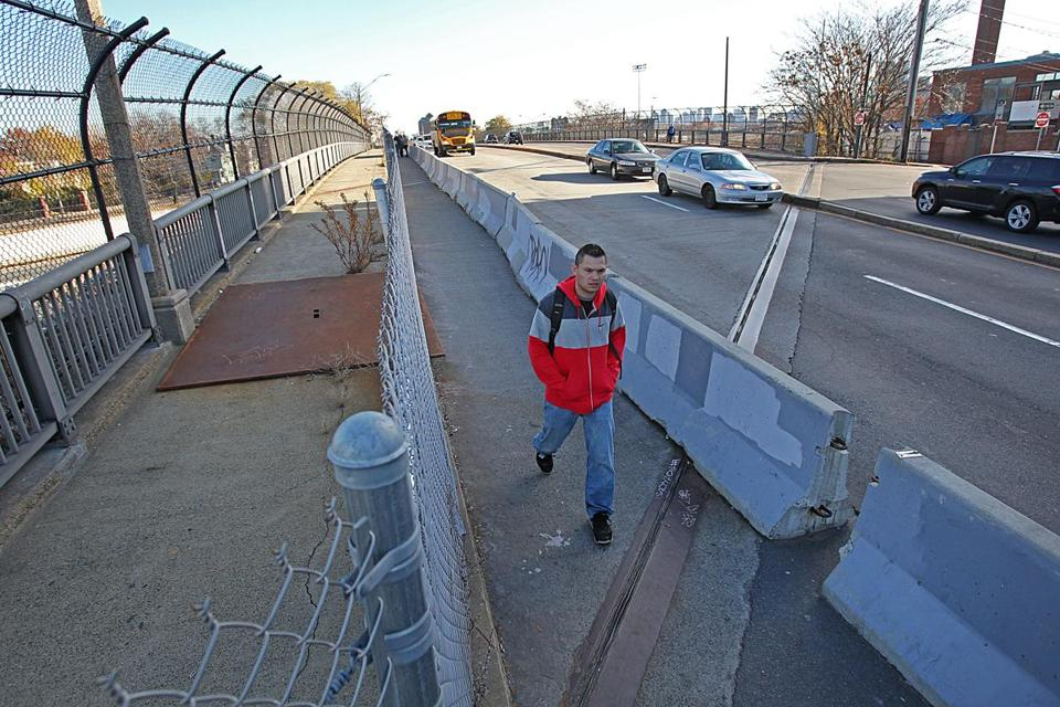 The plan to remake the Cambridge Street overpass is slated to include a new crosswalk and signal for pedestrian safety.