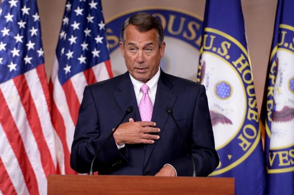House Speaker John Boehner delivered remarks on Thursday about the Affordable Care Act.