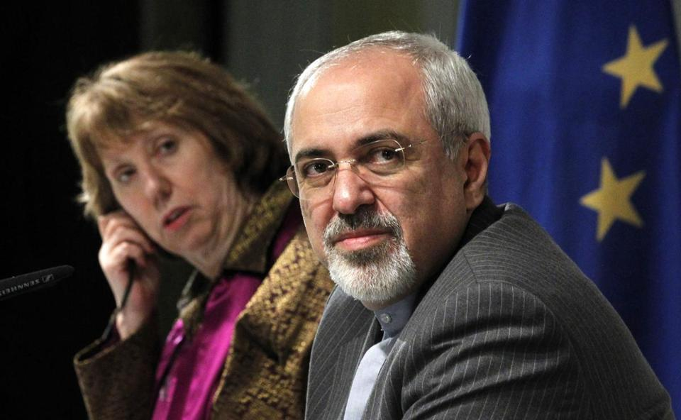 Talks between six world powers and Iran are scheduled to resume in Geneva on Wednesday. Pictured: EU foreign policy chief Catherine Ashton and Iranian Foreign Minister Mohammad Javad Zarif.
