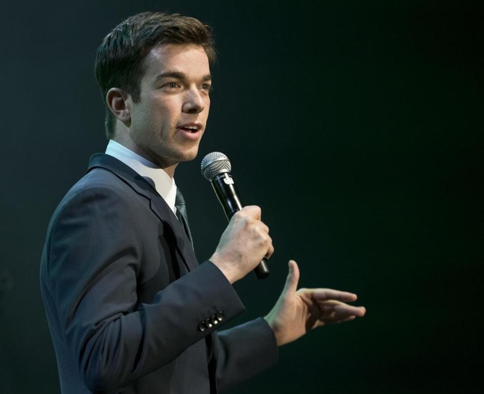 "Boston, MA 11/16/2013 Comedian John Mulaney (cq) performing at, ""Comics Come Home,"" an event fundraiser for the Neely House at the Agganis Arena on Saturday November 16, 2013. (Matthew J. Lee/Globe staff) Topic: 18namescomics Reporter: Meredith Goldstein"