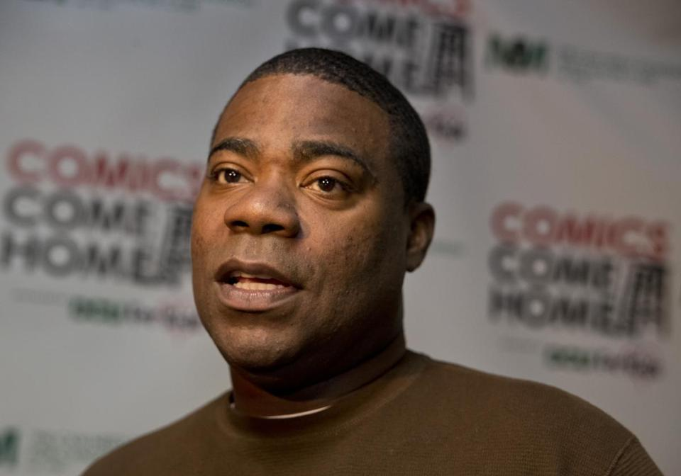 "Tracy Morgan appeared backstage before ""Comics Come Home,"" a fund-raiser for the Neely House, in November 2013 at Agganis Arena."