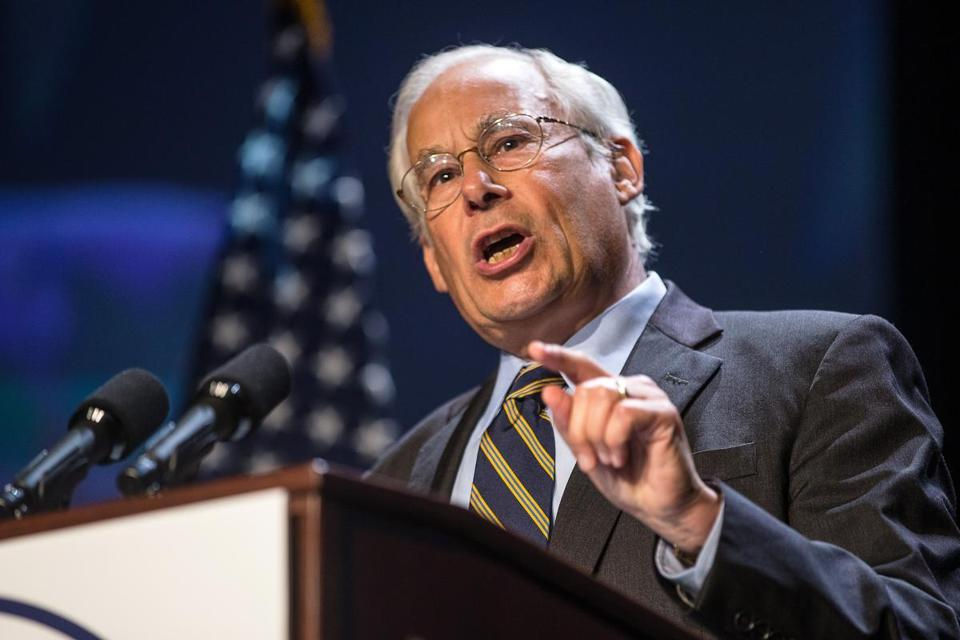 Donald Berwick spoke at the 2013 Massachusetts Democratic Party Platform Convention at UMass Lowell on July 13.