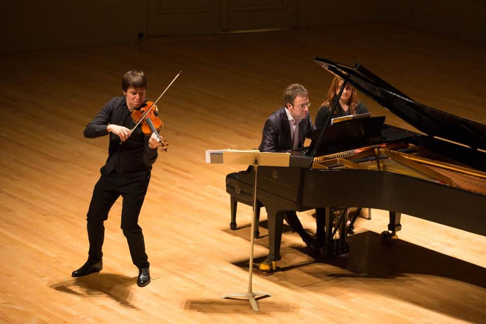 Joshua Bell in a Celebrity Series of Boston recital with pianist Sam Haywood at Symphony Hall.