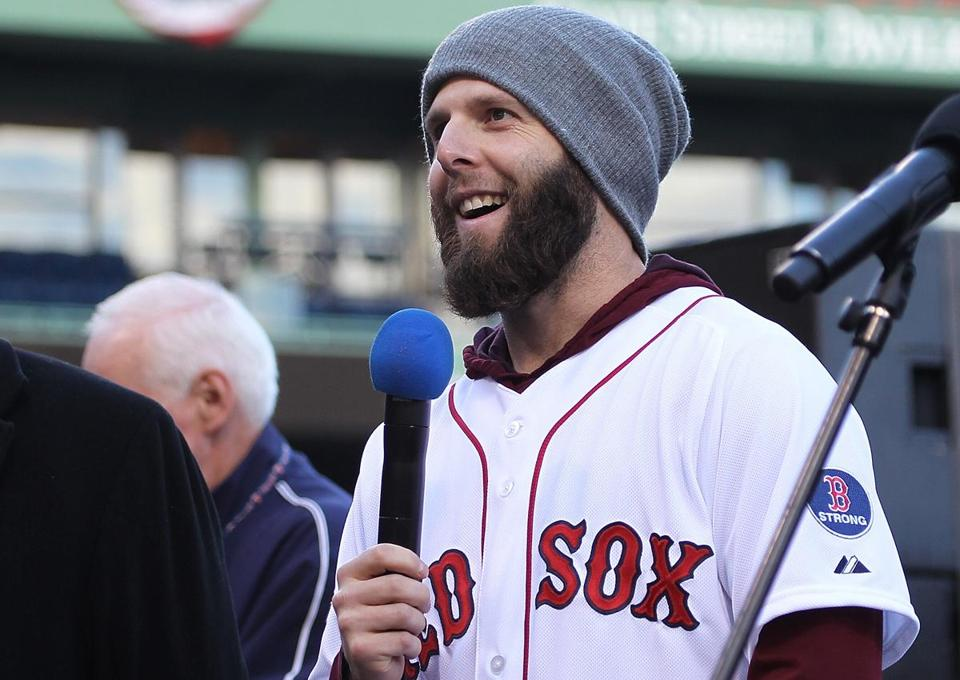 Dustin Pedroia was an All-Star and won the Gold Glove in 2013, leading the Red Sox to their eighth World Series championship, the second of his career.