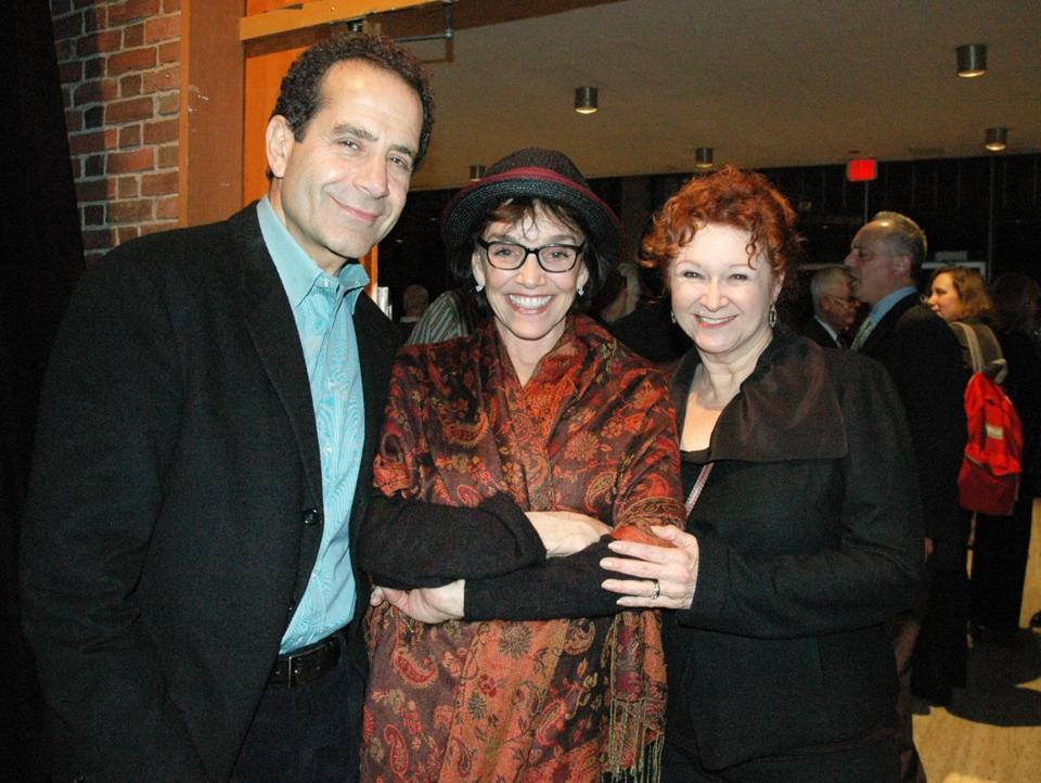 From left: Tony Shalhoub, Brooke Adams, and Cynthia Darlow.
