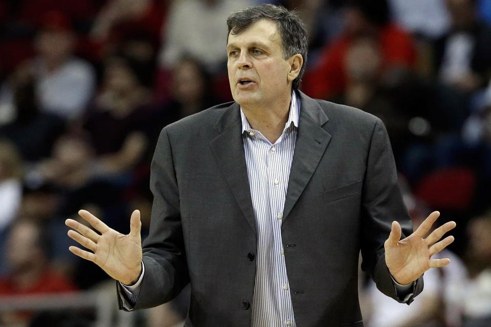 Former Celtic star Kevin McHale is now the coach of the Rockets.