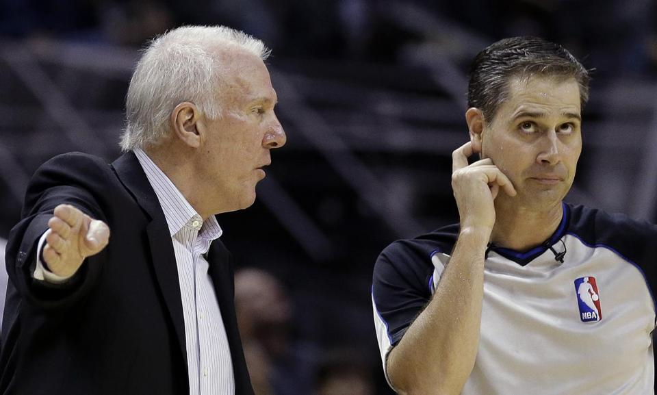 "Veteran Spurs coach Gregg Popovich said when he watched the Celtics on TV, Stevens ""did such a fine job."""