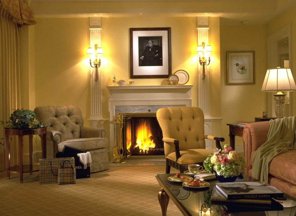Some executive suites at Taj Boston have true fireplaces.