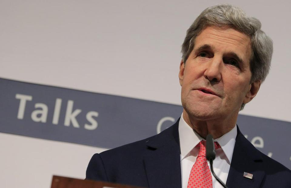 US Secretary of State John Kerry spoke early Sunday during a news conference after the talks finished.