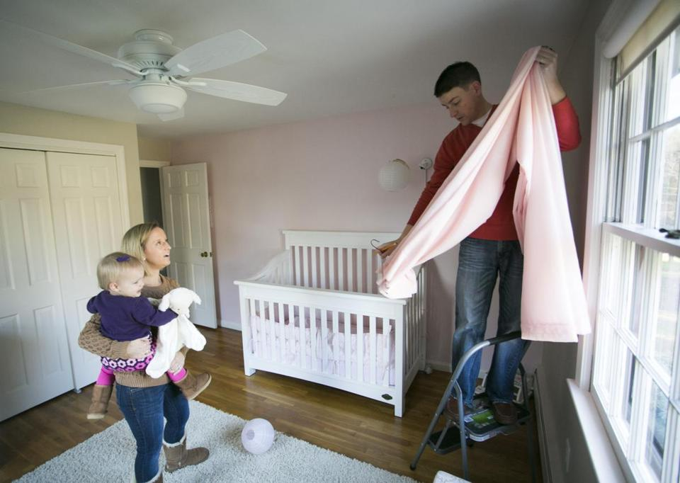 Dan and Meghan Keith, shown with their daughter, Paige, used an unconventional blind mailing technique to find their Topsfield home.