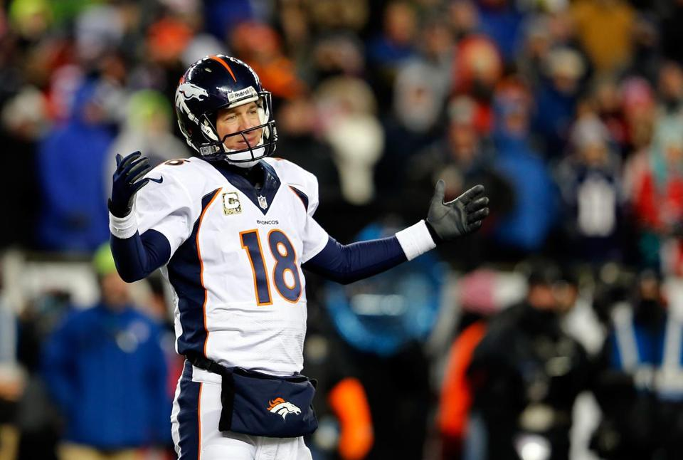 Peyton Manning came up short in his latest visit to Foxborough.