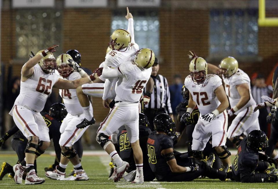 After a timeout by Maryland, Nate Freese came through for the Eagles, nailing a game-winning 52-yard field goal.