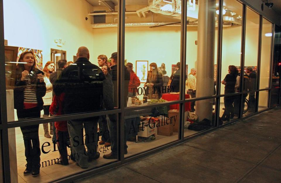 A gallery opening at Lichtenstein Center for the Arts for Pittsfield's First Fridays Art Walk.