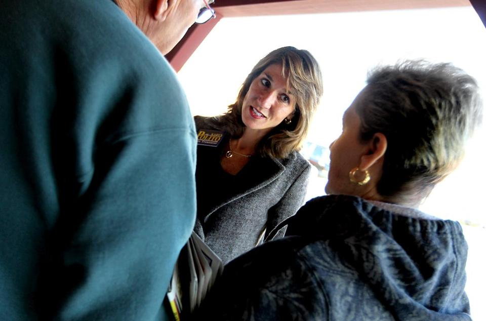 Karyn Polito (with voters in 2010) is expected to declare as early as Tuesday that she will run for lieutenant governor.
