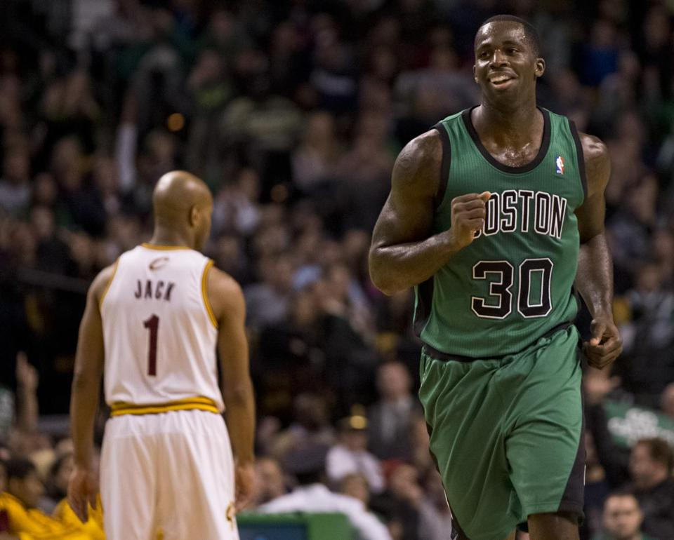 Brandon Bass was all smiles after hitting his first career 3-pointer to cap off the third quarter.