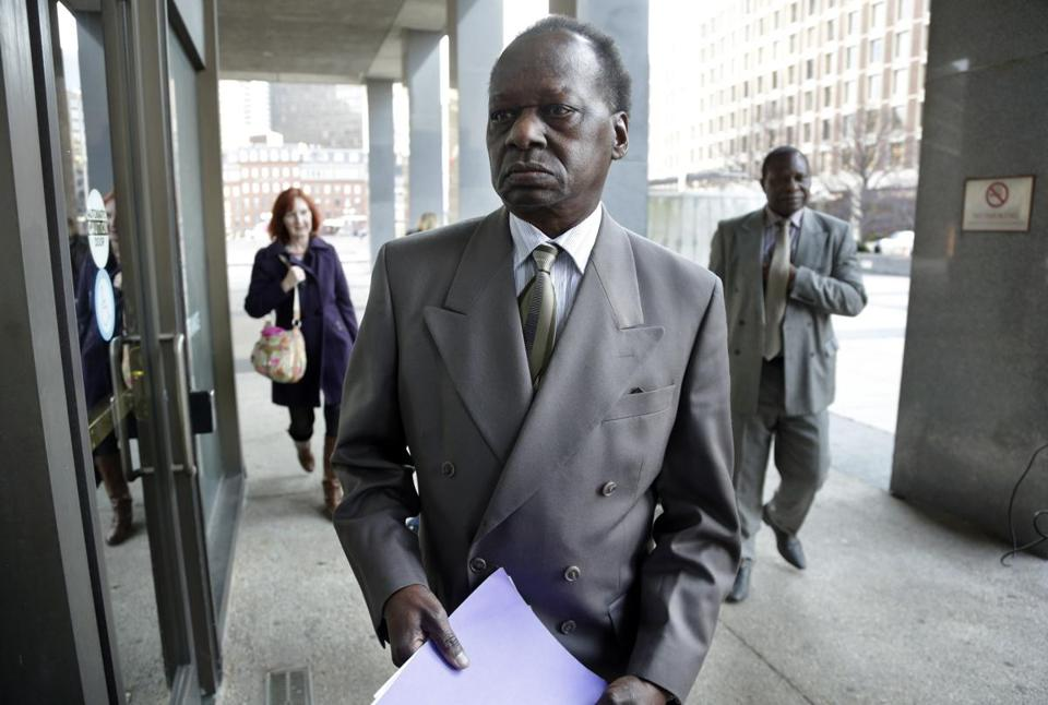 Onyango Obama, President Barack Obama's Kenyan-born uncle, arrived at US Immigration Court in Boston for a deportation hearing.