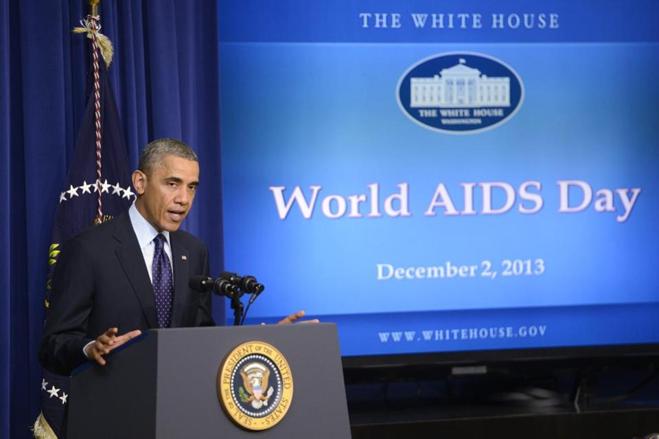 President Obama, who has been under pressure to do more to fight AIDS, said Monday that the US contribution will be met if other countries commit to giving $10 billion.