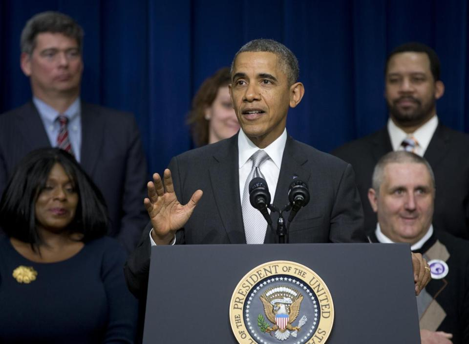 President Barack Obama spoke about the new health care law Tuesday.