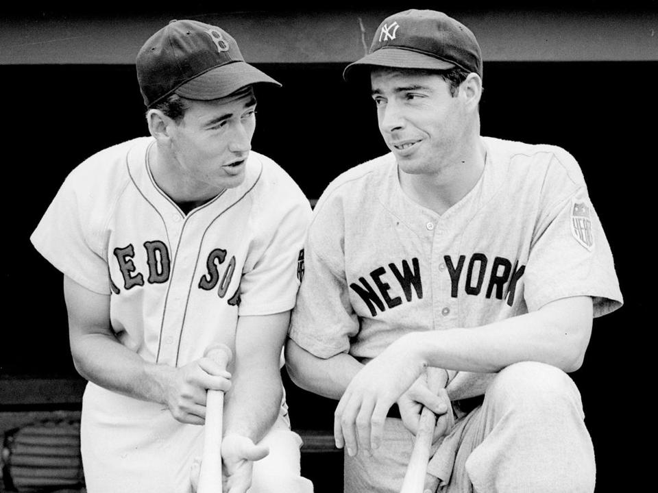 The two greatest players of their time: The gregarious, generous Ted Williams, and the regal yet penurious Joe DiMaggio.