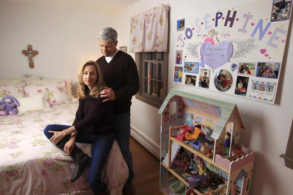 Michele and Bob Gay have re-created Joey's room in their new home in a Boston suburb.