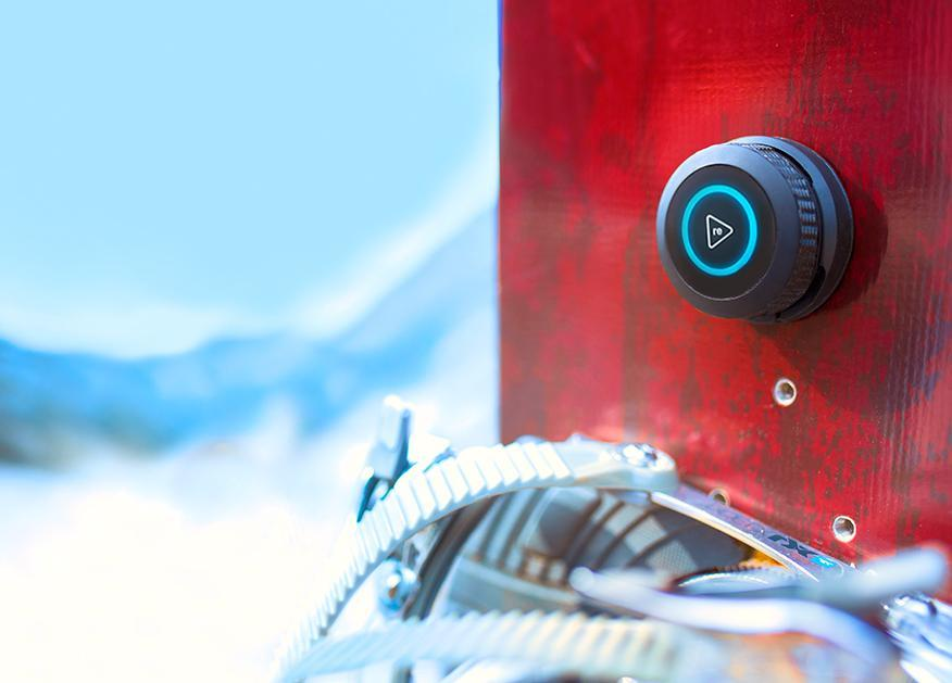 Trace is a water-resistant sensing device that attaches to skis and snowboards.