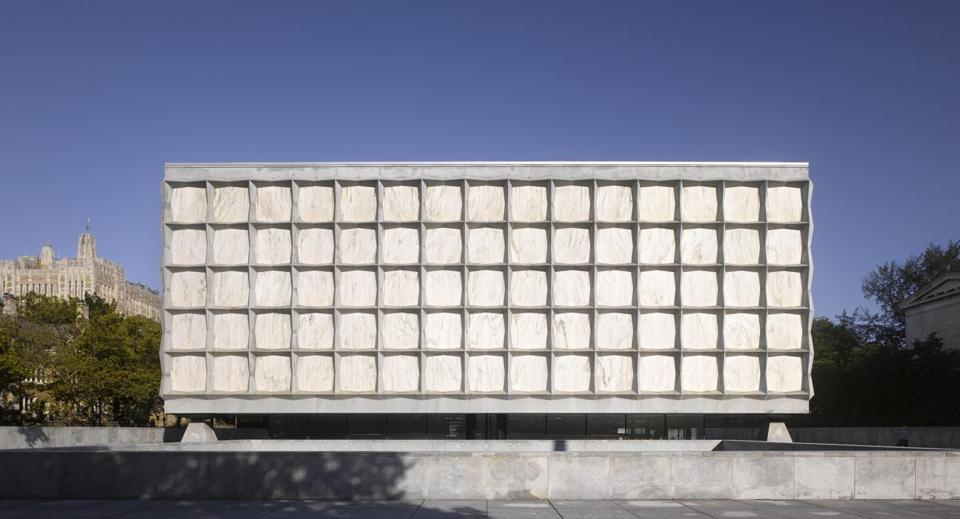 The Beinecke Rare Book and Manuscript Library at Yale University designed by Gordon Bunshaft.