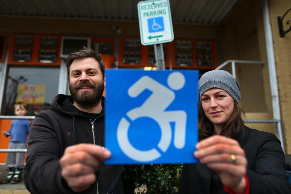 Brian Glenney and Sara Hendren have begun a campaign to change the design of wheelchair signs.