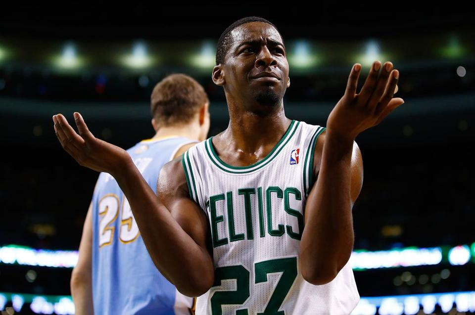 Jordan Crawford wasn't happy with this call in the second half, but he's enjoying his new role in Boston.