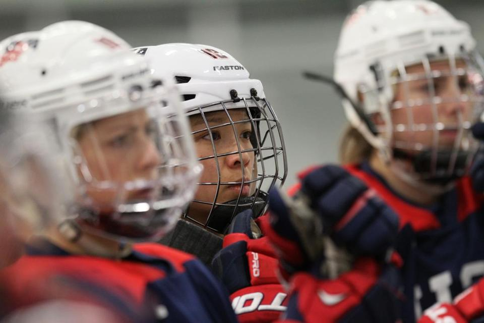 Julie Chu, 31, is the oldest candidate among the 23 players vying for a spot on the US Olympic women's hockey team.