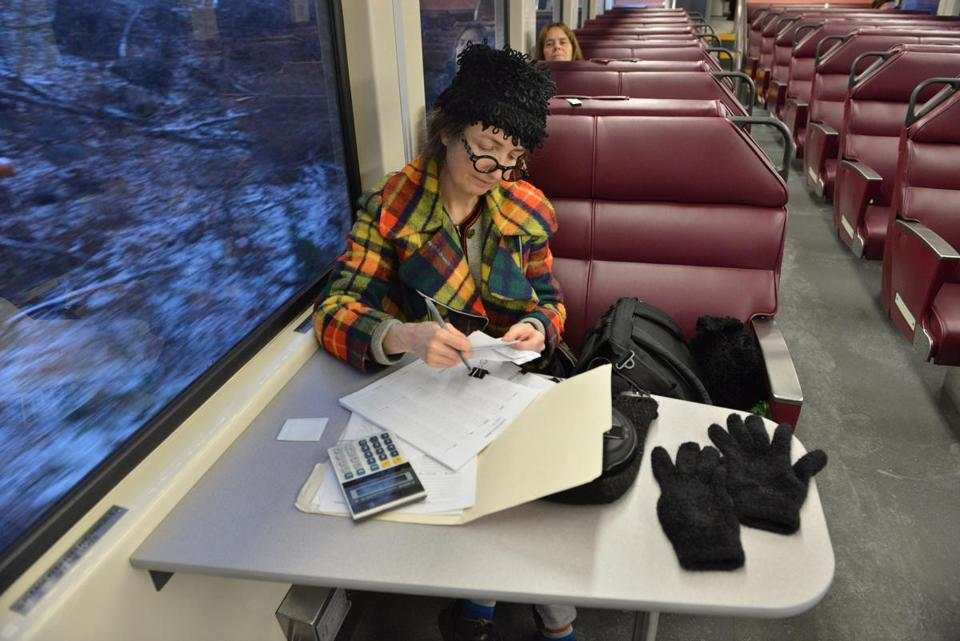 Gregg Zoske of Gloucester is content with her commute to Lynn.