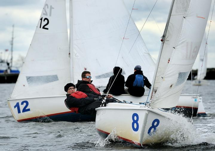 Boaters enjoy sailing in Boston Harbor.