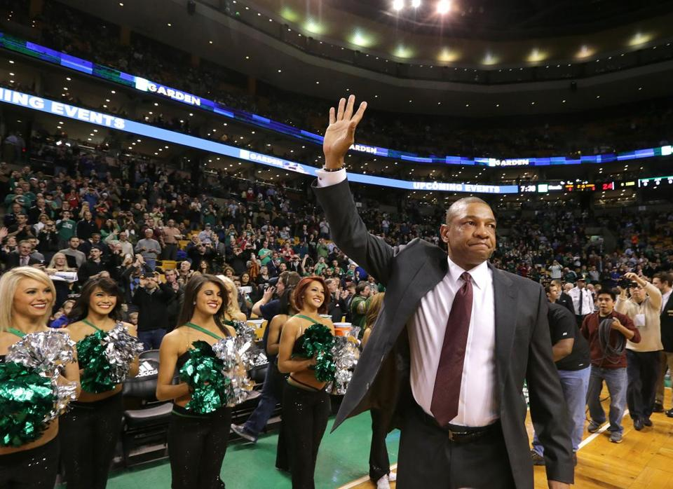 Doc Rivers's emotional return to TD Garden included a wave to the fans, a video tribute by the Celtics, some tears — and a Clippers' win.