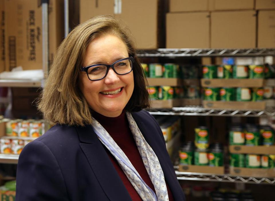 """It creates kind of a therapeutic milieu around nutrition, which I think reduces some of the stigma associated with going to the food bank,"" said Kate Walsh, Boston Medical Center president and chief executive officer, on how the hospital's Preventative Food Pantry helps its needy patients."