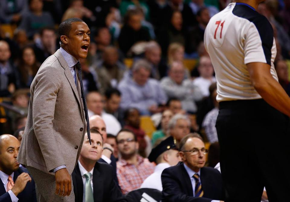 Rajon Rondo has spent this season on the sideline but he's been deeply involved in how the Celtics operate under new coach Brad Stevens.