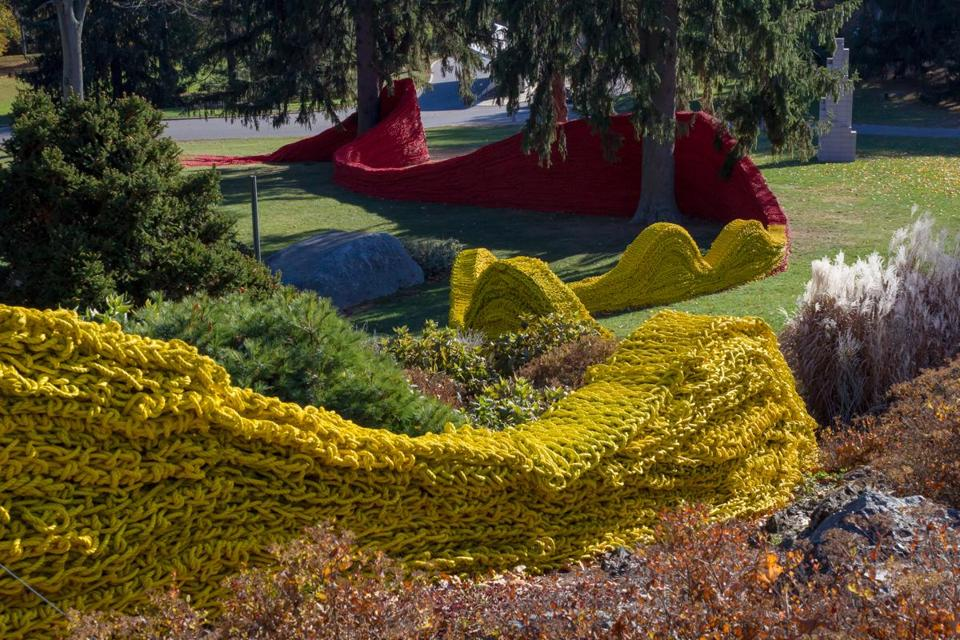 Please find attached an image of Orly Genger'sÊRed, Yellow and BlueÊat deCordova Sculpture Park and Museum, at the request of Cate McQuaid. Caption below: Orly Genger,ÊRed, Yellow and Blue,Ê2013. Photograph by Anchor Imagery. / 27deCordova