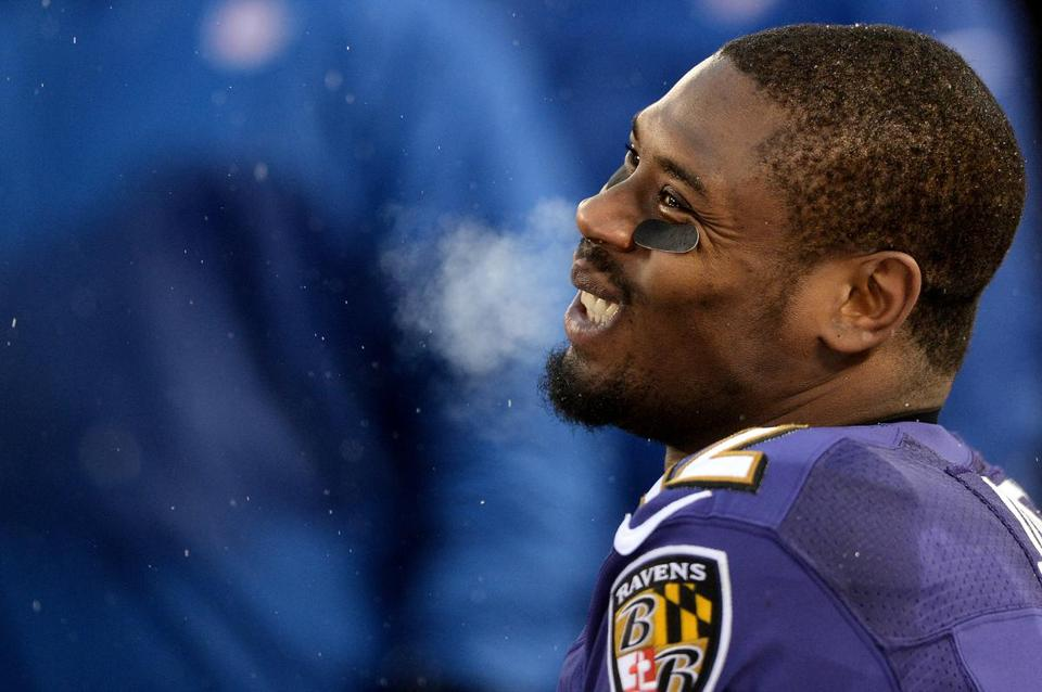 Jacoby Jones is a return specialist for the Ravens.