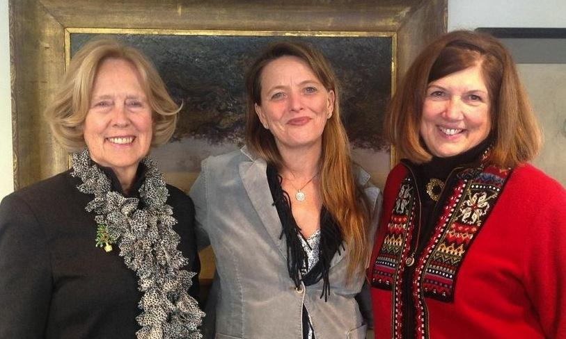From left: board member Nancy Huggins, Kate James, and Lili Ott.
