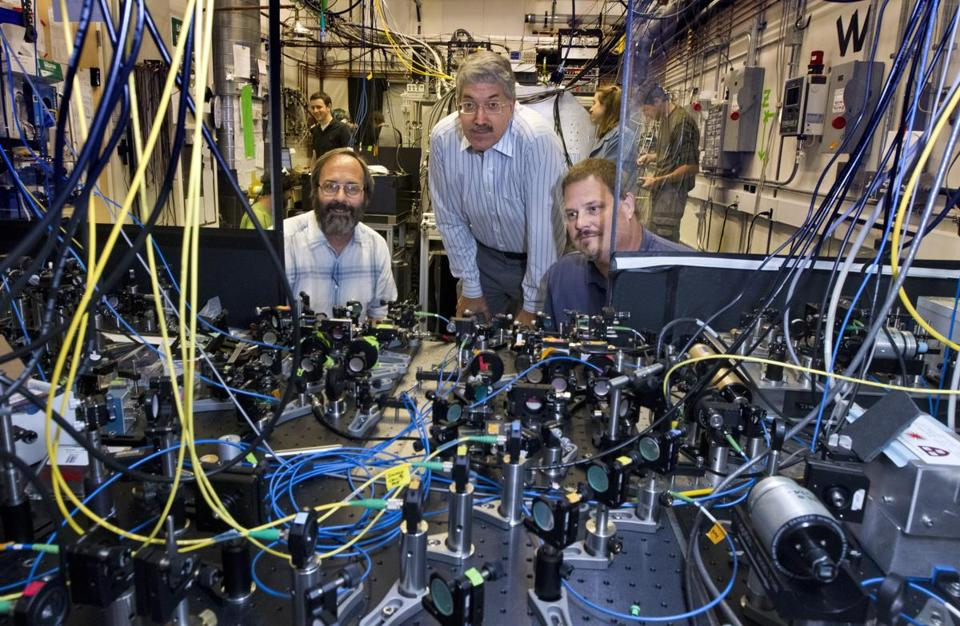 "Gerald Gabrielse, John Doyle, and David DeMille embarked on their quest last year to measure the electron's ""lumpiness."""