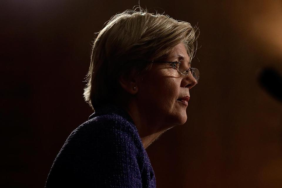 Senator Elizabeth Warren reflected on her first year in office.